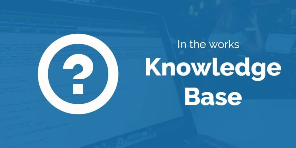 Knowledge base in the works